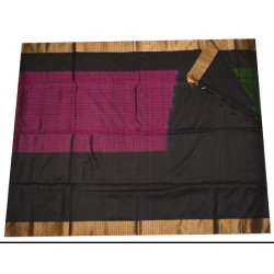 Soft Silk Saree with small Zari checks