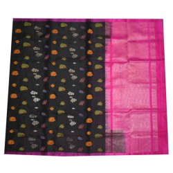 Soft Silk Saree with Zari Fishes Motifs