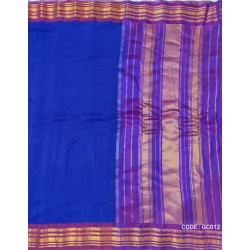 Gadwal pure handwoven cotton saree with royal blue&pink combination
