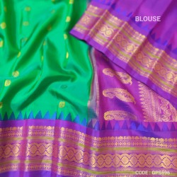 Gadwal Pure Silk saree with kuttu border-GPS696