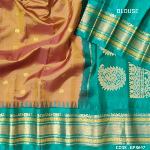 Gadwal Pure Silk saree with kuttu border-GPS697