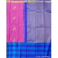 Attractive Kanchipuram Light Weight Saree with Deer motifs