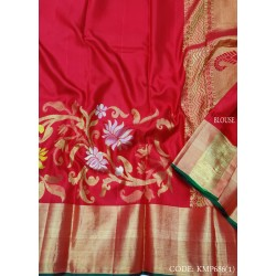 Perfect outfit with Latest Light Weight kanchipuram saree