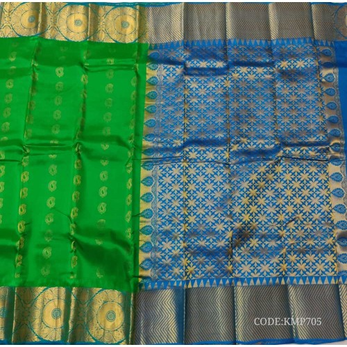 Kanchi Pattu Saree with Perfect Contrast Colour