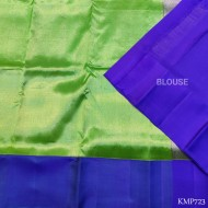 Kanchi pure Silk full zari by zari with attractive dark green & blue combination