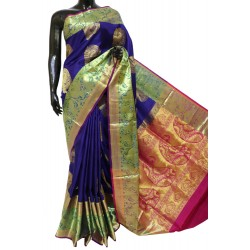 Soft Silk Saree with Peacock Border