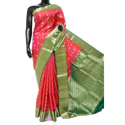 Soft silk Saree with Peacock Mango Motifs