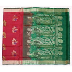 Attractive Soft Silk Saree with Peacock & Thabala Motifs