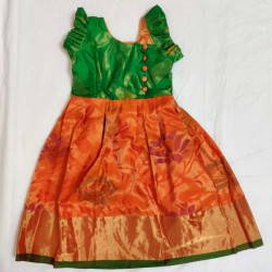 Exclusive Pattu Lehenga For 2 years Girl