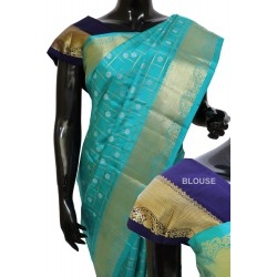 Kanchi Pattu Light weight Exclusive Checks Border