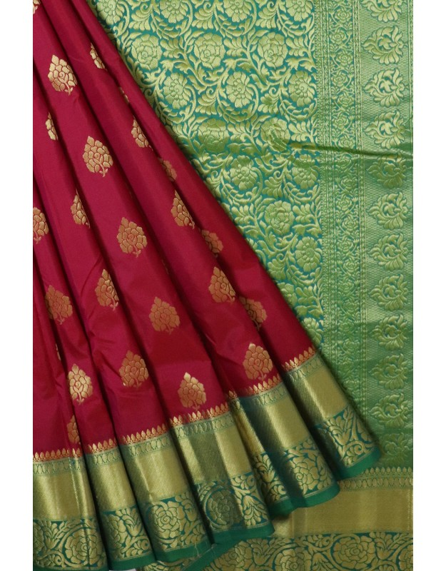 Kanchi Pattu Light weight Maroon Color
