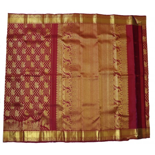 Kanchi Pattu Bridal Special Self Brocade 50% Off