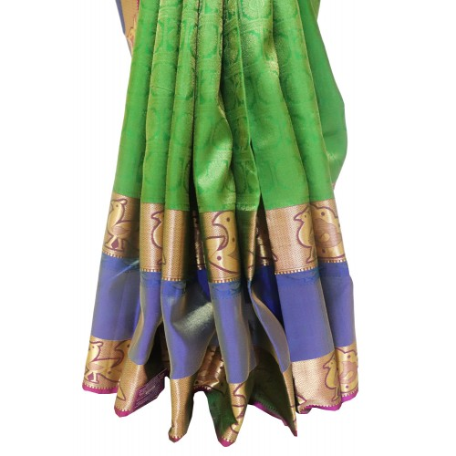 Kanchi Pattu Long Border Brocade 50% Off