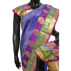 Kanchi pattu Contrast Brocade Double Border 50% off