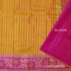 Kanchi Pattu Pure Handwoven Brocade 50% OFF-KMP829