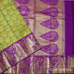 Kanchi Pattu Pure Handwoven Brocade 50% OFF-KMP834