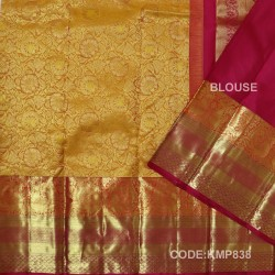 Kanchi Pattu Pure Handwoven Brocade 50% OFF-KMP838