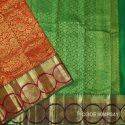 Kanchi Pattu Pure Handwoven Brocade 50% OFF-KMP841