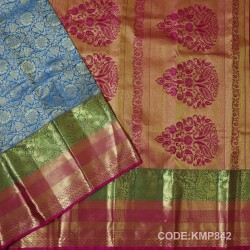 Kanchi Pattu Pure Handwoven Brocade 50% OFF-KMP842