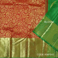 Kanchi Pattu Pure Handwoven Brocade 50% OFF-KMP843
