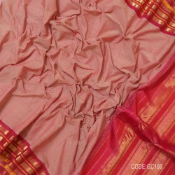 Gadwal pure cotton saree with Small Cheks-GC100