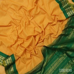 Gadwal pure cotton saree with Small Cheks-GC103