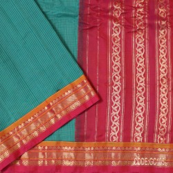 Gadwal pure cotton saree with Small Cheks-GC105