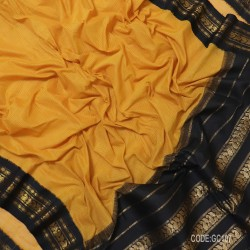 Gadwal pure cotton saree with Small Cheks-GC104