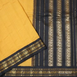 Gadwal pure cotton saree with Small Cheks-GC107