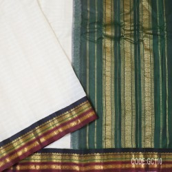 Gadwal pure cotton saree with Small Cheks-GC110