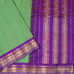 Gadwal pure cotton saree with Small Cheks-GC111
