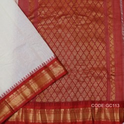 Gadwal pure cotton saree with Small Cheks-GC113