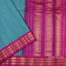 Gadwal pure cotton saree Pure Handwoven-GC119