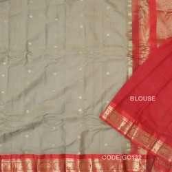 Gadwal pure cotton saree Pure Handwoven-GC132