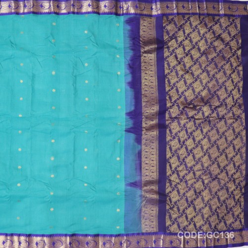 Gadwal pure cotton saree Pure Handwoven-GC136