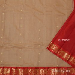 Gadwal pure cotton saree Pure Handwoven-GC140