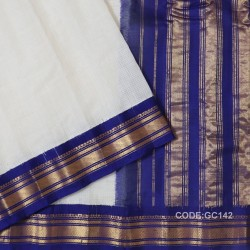 Gadwal pure cotton saree Pure Handwoven-GC142