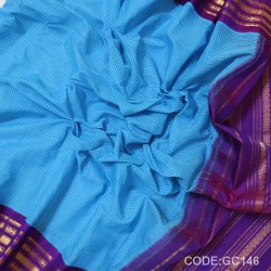Gadwal pure cotton saree Pure Handwoven-GC146