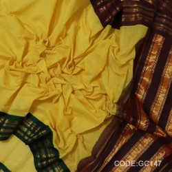 Gadwal pure cotton saree Pure Handwoven-GC147