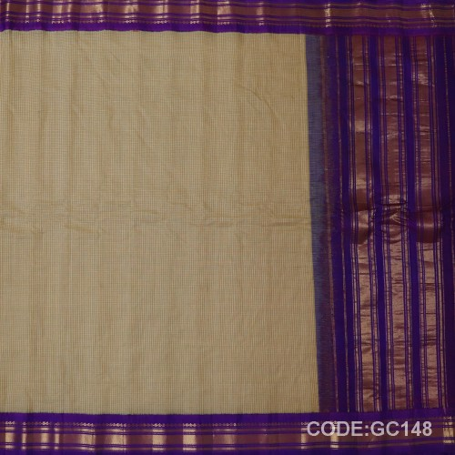 Gadwal pure cotton saree Pure Handwoven-GC148