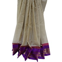 Gadwal pure cotton with attached Silk Blouse