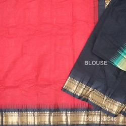 Gadwal cotton saree with Blouse-GC46