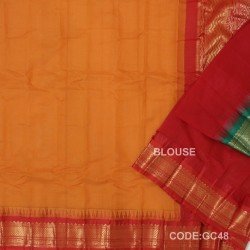 Gadwal cotton saree with Blouse-GC48