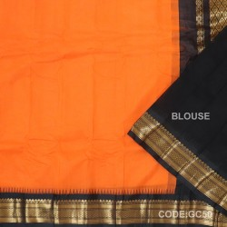 Gadwal cotton saree with Blouse-GC50