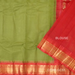 Gadwal cotton saree with Blouse-GC51
