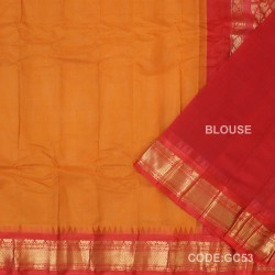 Gadwal cotton saree with Blouse-GC53
