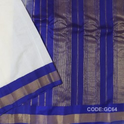 Gadwal cotton saree with Blouse-GC64
