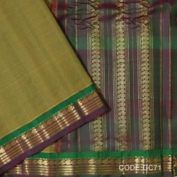 Gadwal pure cotton saree with Small Cheks-GC71