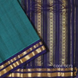 Gadwal pure cotton saree with Small Cheks-GC73