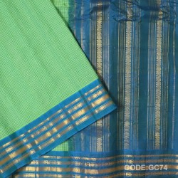 Gadwal pure cotton saree with Small Cheks-GC74